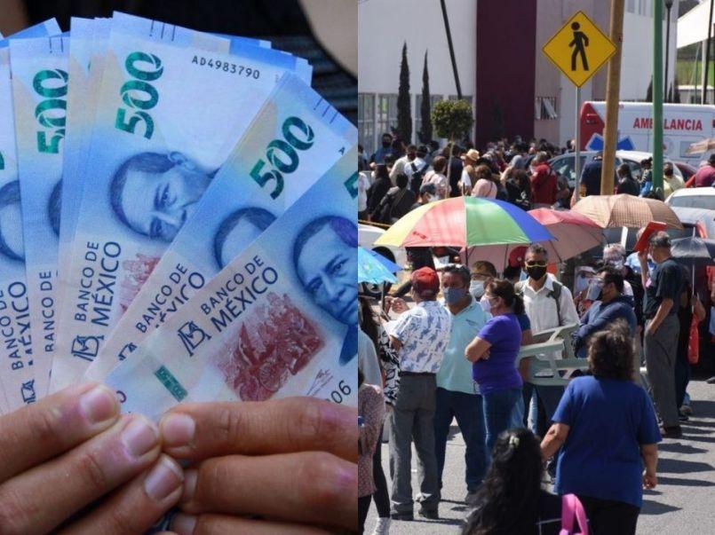 La fila es en el CBTIS 105 de Altamira y los jóvenes ofrecen apartar lugar por 500 pesos, se ofrecen para que los abuelitos no se desvelen