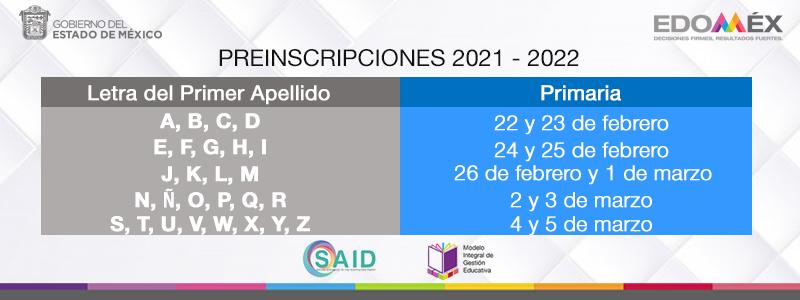 Paso a paso para comenzar preinscripción SAID EDOMEX Primaria 2021-1