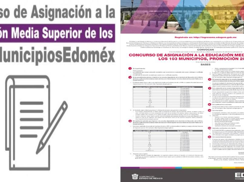 Concurso Asignación Educación Media Superior EDOMEX será del miércoles 3 de marzo al jueves 25. Este documento será necesario para realizar el examen.