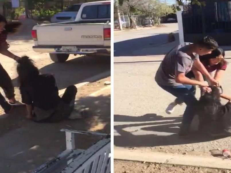viral video dónde una joven somete a una chica en Sonora