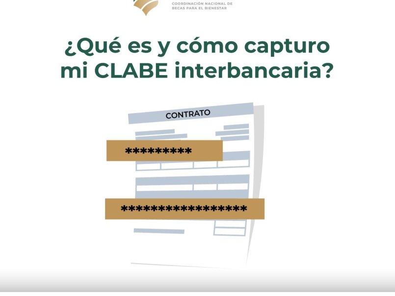 Becas Benito Juárez capturar clabe interbancaria