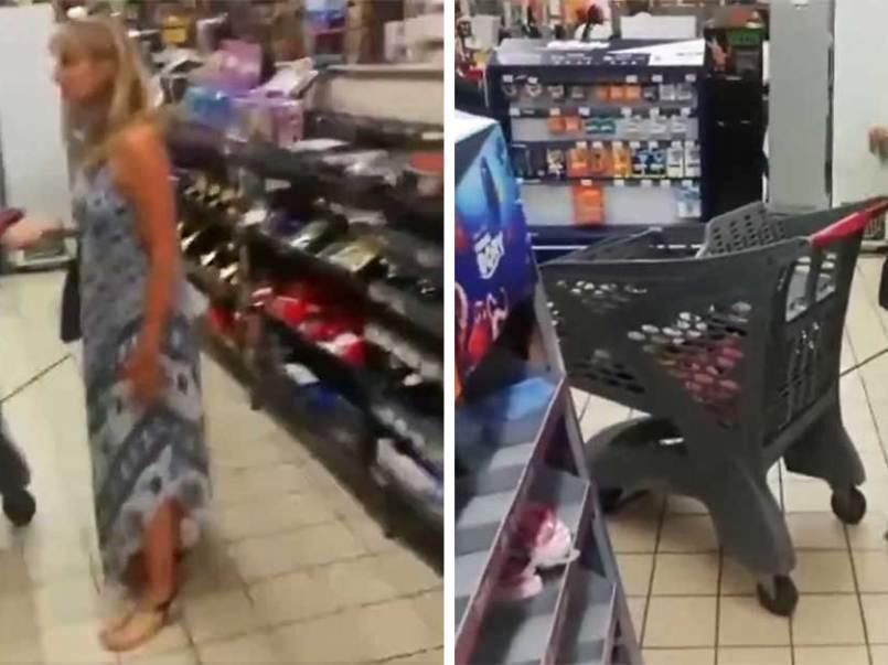 Mujer por no traer cubrebocas se quita su tanga y lo usa como mascarilla.